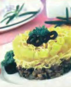 Слоеный салат из грибов