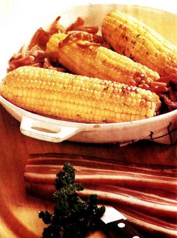 Жареная кукуруза с салом