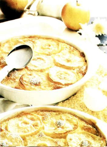 Яблочно-рисовое суфле