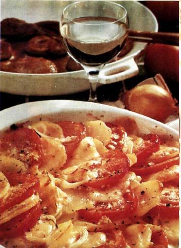 Картофельно-томатное суфле