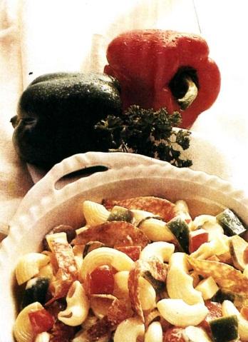 Салат из рожков с колбасой