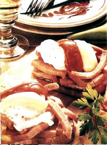Бутерброд с ветчиной и яйцом