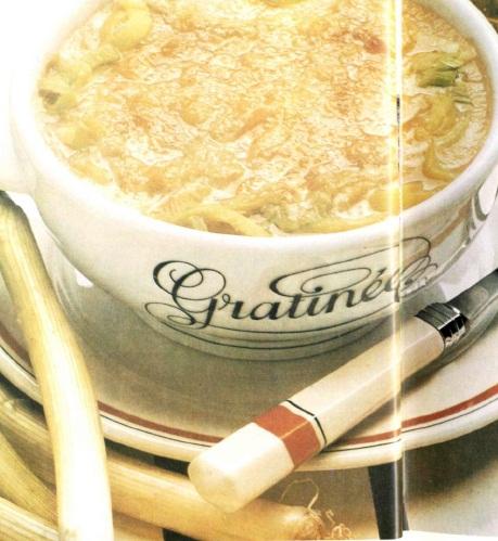 Суп из лука под бешамелью