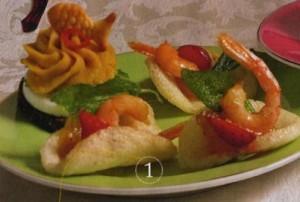 Чипсы-лодочки с тайскими креветками
