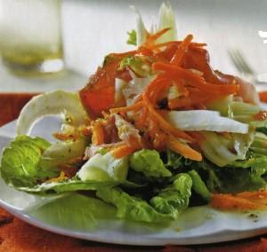 Морковный салат с апельсиновым соусом