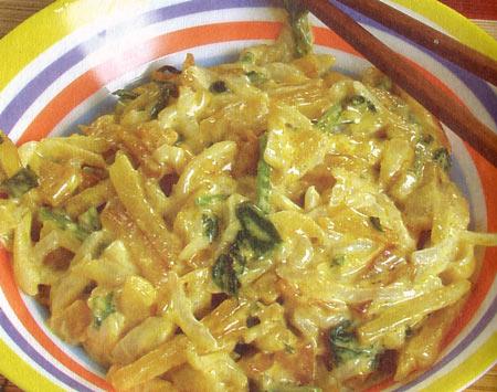 Салат из редиса и картофеля
