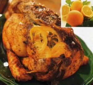 Курица, запечённая с лимонами