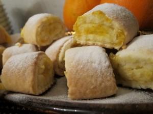 Песочное печенье с апельсиновой начинкой