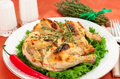 Запеченный цыпленок