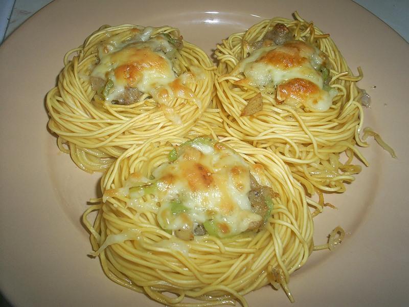 Рецепты гнездо из макарон