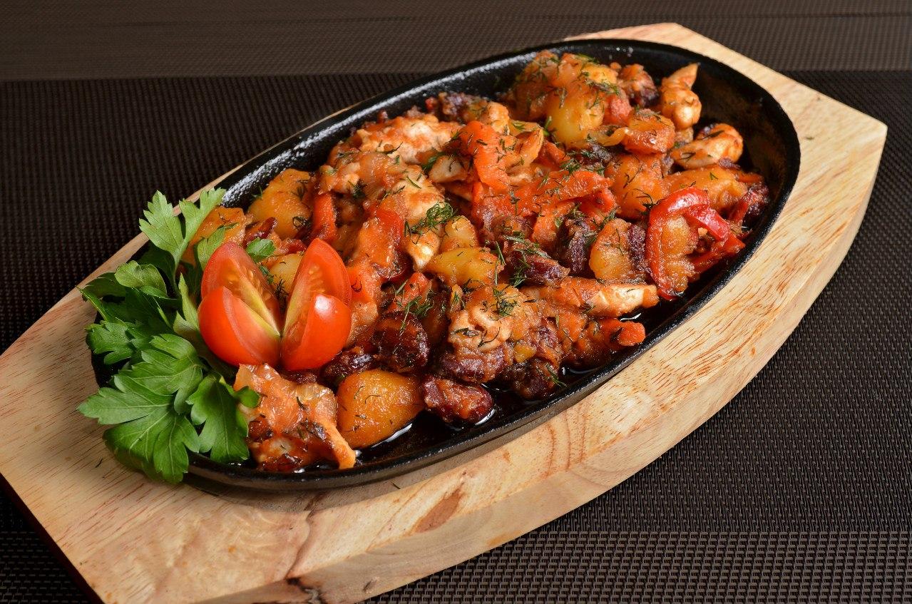 Свинина тушеная с картошкой в кастрюле рецепт пошагово