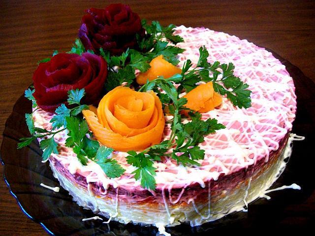 Торт из овощей рецепты с фото