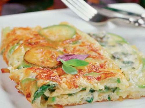 Омлет с кабачком и помидором рецепт