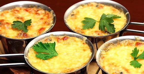 Жульен с курицей и грибами в духовке в форме рецепт пошагово