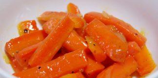 Глазированная морковь с мятой и лимоном