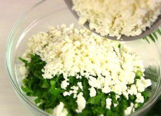 Зимний салат с творогом