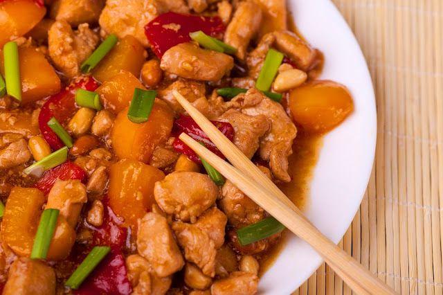 Курица по-китайски с арахисом