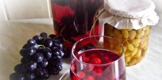 Компот из красного винограда